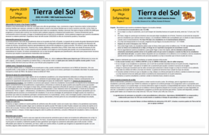 TDS Newsletter August 2019 Spanish