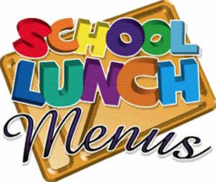 Lunch Menu Week of October 26-30, 2020